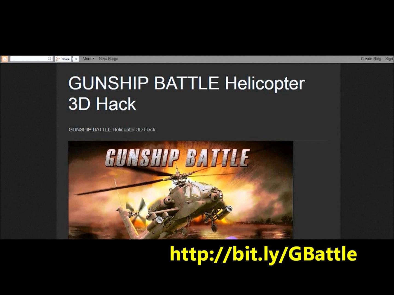 Free Gunship Battle Helicopter 3D Hack -June 2014 - video dailymotion