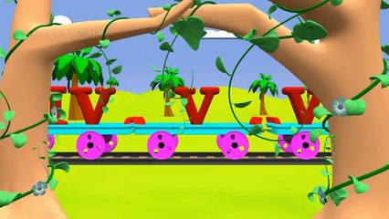 Roman Numbers learning Train for kids 3D Animation