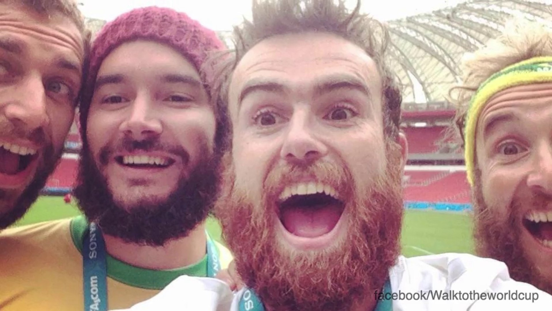 Men And Dog Finish 1200-Mile Walk To World Cup