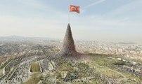 Millet Eğilmez Türkiye Yenilmez (yeni versiyon) - Ak Parti Bayraklı Reklamı - Bayrak reklamı - Akp bayraklı reklamı - yeni bayraklı reklam