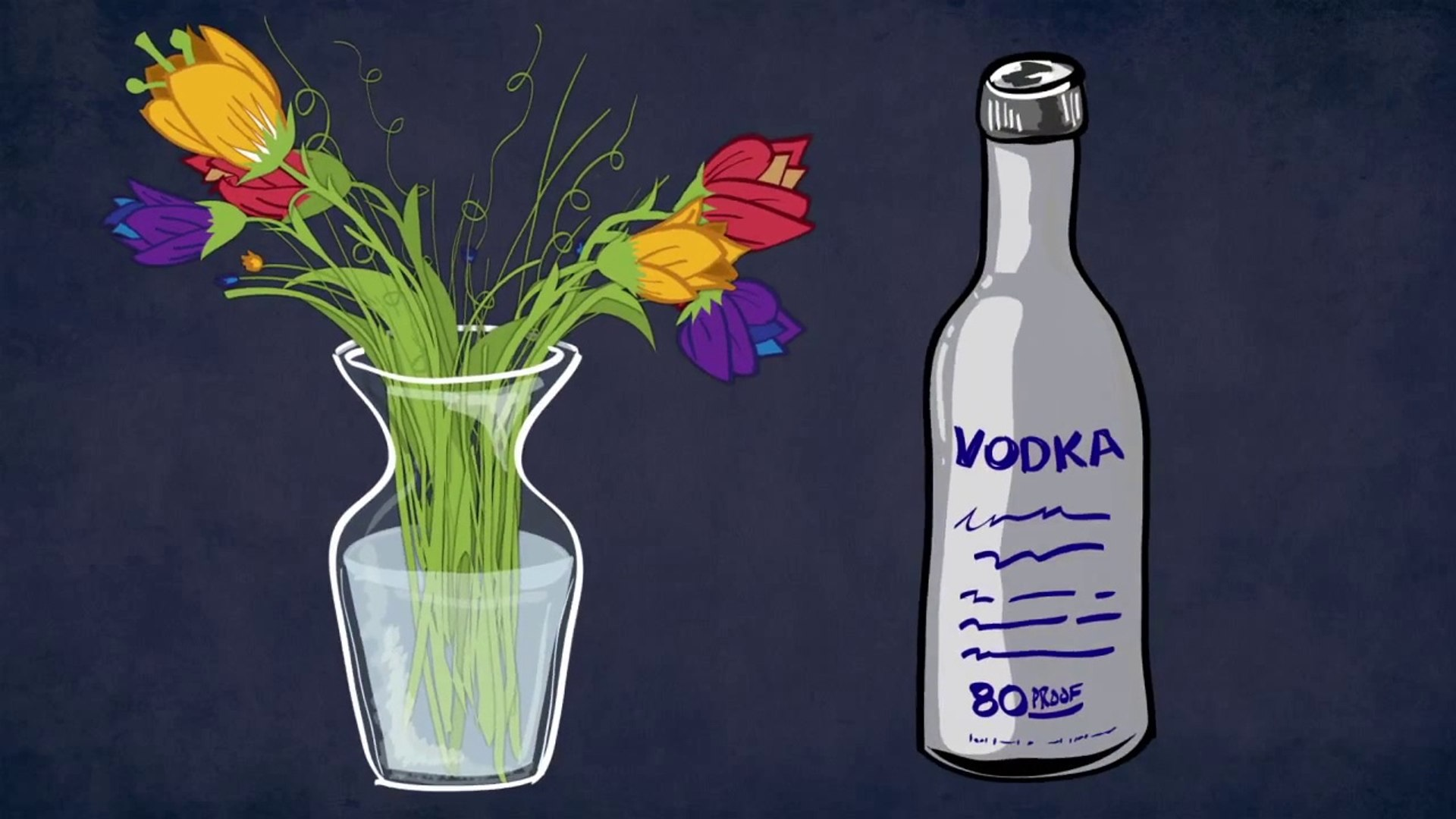 How to Preserve Fresh Flowers With Vodka - video dailymotion