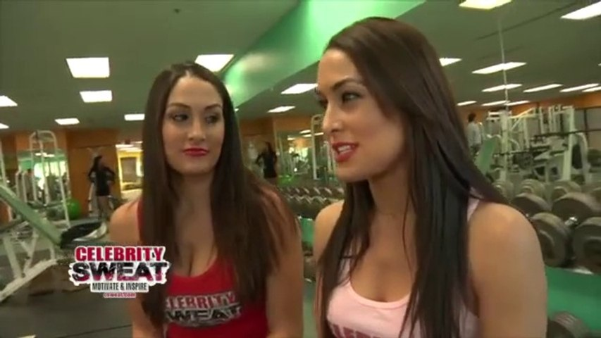 The Bella Twins hit the gym in New Orleans.