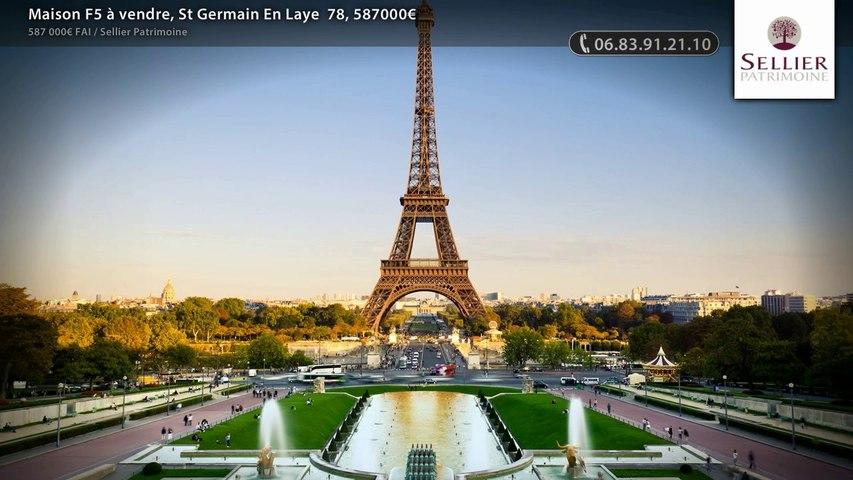 Maison F5 à vendre, St Germain En Laye  78, 587000€
