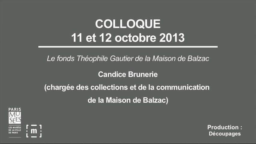 """Colloque """"Choisir Paris"""" : Le fonds Théophile Gautier de la Maison de Balzac - Candice Brunerie"""