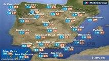 Previsión del tiempo para este jueves 12 de junio