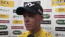 Christopher Froome, maillot jaune de la 5e étape du Critérium du Dauphiné 2014