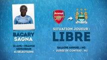 Officiel : Bacary Sagna rejoint Manchester City !