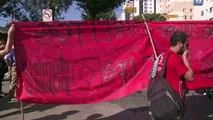 MOND2014: gaz lacrymogènes contre des manifestants