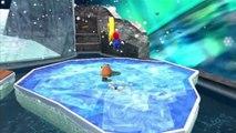 Super Mario Galaxy - Volcan de glace - Étoile 1 : Ça glisse sur la montagne de glace