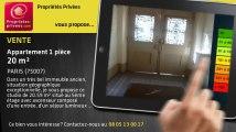 A vendre - appartement - PARIS (75007) - 1 pièce - 20m²