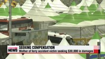 Sewol-ho ferry victim's mother sues government and ferry operator