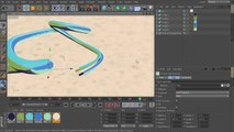 2D Styled 3D Motion Graphics in CINEMA 4D and After Effects - 04. Texturing for a 2D look and creating a sky