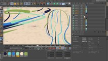 2D Styled 3D Motion Graphics in CINEMA 4D and After Effects - 13. Creating the sweeps for the background