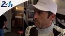 24 Heures du Mans 2014: interview de Patrick Dempsey pendant les essais qualificatifs