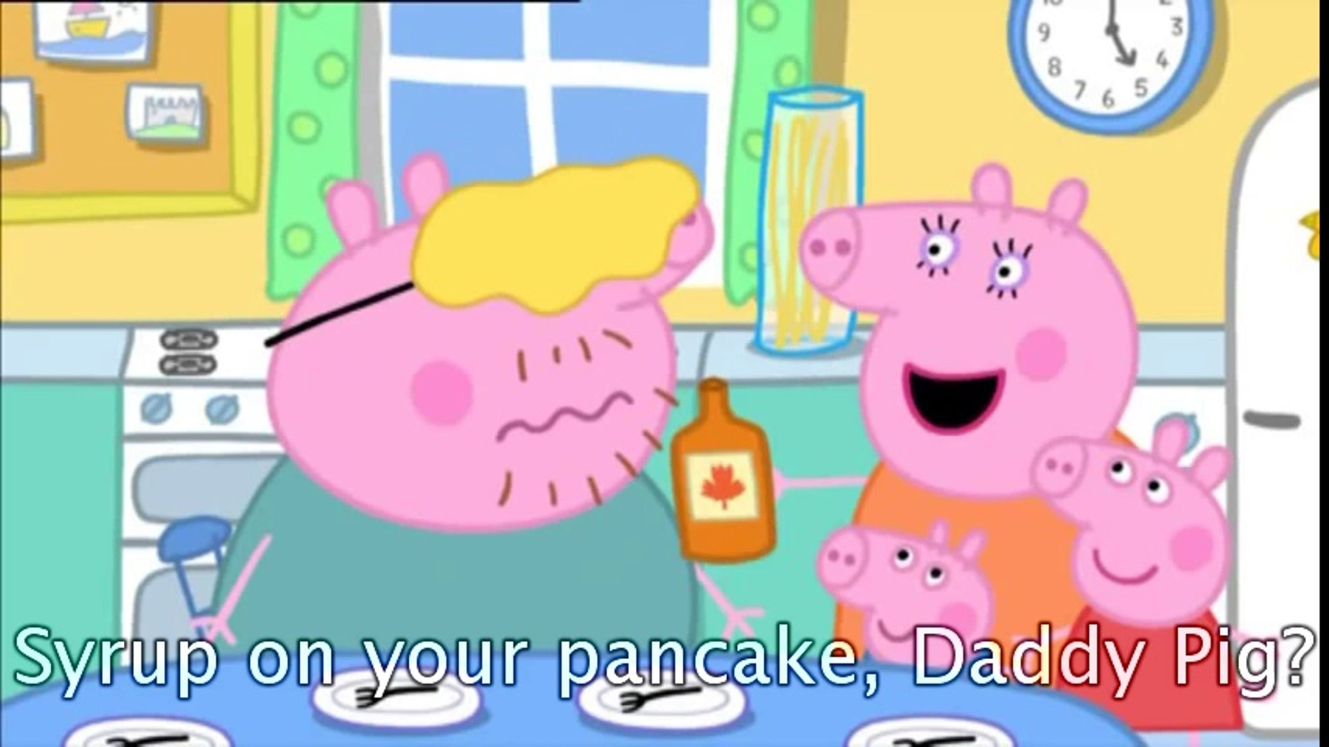 Peppa Pig Pancakes with subtitles