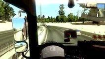 Euro Truck Simulator 2 . Episode [ 2 ] Voyage de Mika de  Malmo a Stockholm avec MAN TGX en hiver avec chaine