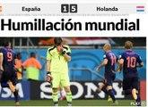 Revue de presse : La défaite de la Roja vue par les journaux espagnols et hollandais