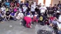 Un adulte qui se fait défoncer par un enfant (battle de break dance )
