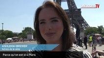 """A Paris, sur le tournage de la série """"Amour, gloire et beauté"""""""