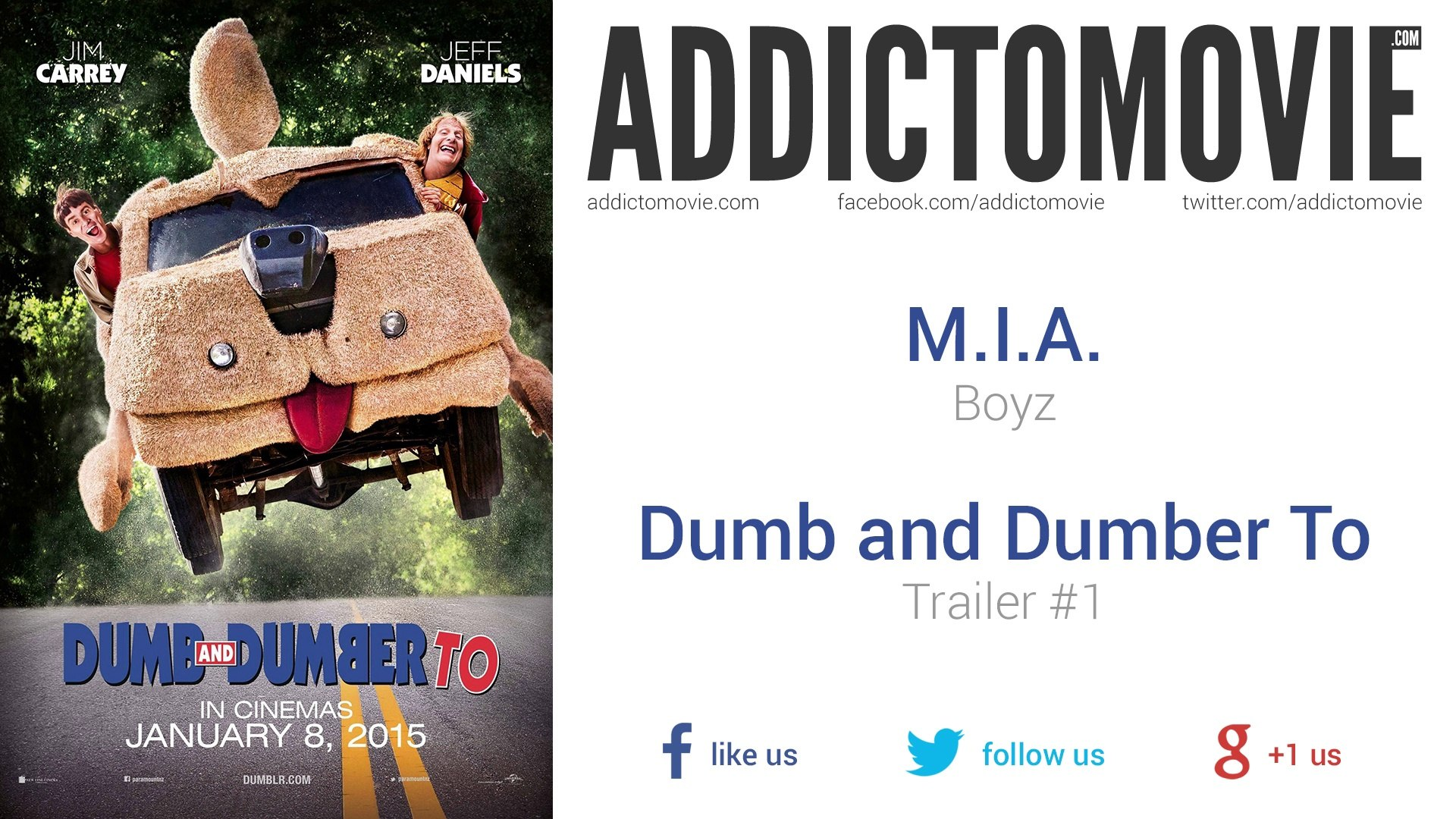 Dumb and Dumber To - Trailer #1 Music #2 (M I A  - Boyz)