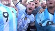 Football / Les supporters argentins investissent Copacabana - 14/06