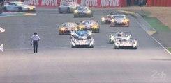 24 Heures du Mans 2014 : Passage de la ligne d'arrivée par l'Audi n°2