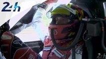 24 Heures du Mans 2014: joie de Benoit Treluyer en passant la ligne d'arrivée
