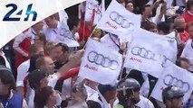 24 Heures du Mans 2014: ambiance Audi à l'arrivée