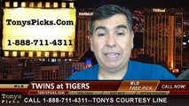 MLB Pick Detroit Tigers vs. Minnesota Twins Odds Prediction Preview 6-15-2014