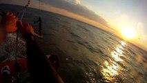 Kite camping Beauduc - back onefoot visu sunset, onefoot photoshoot