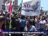 Syrians in Lebanon protest against upcoming elections