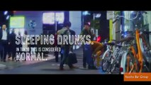 People passed out drunk in Japan get turned into ads For responsible drinking