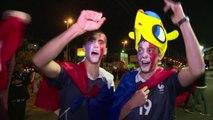 Mondial: la joie des supporteurs français à Porto Alegre