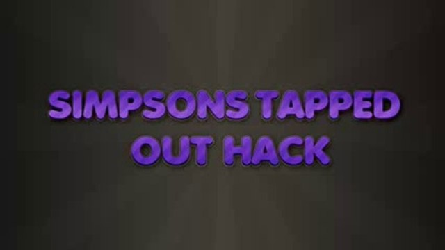 simpsons tapped out hack simpsons tapped out cheats hacks [download] 2014