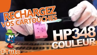 Comment recharger une cartouche d encre HP 348