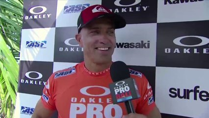 Surfing // Oakley Pro Bali 2013 - Kelly Slater and Joel Parkinson - Third Round Wins