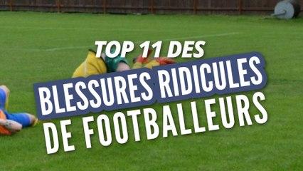 Top 11 des blessures les plus cons de footballeurs