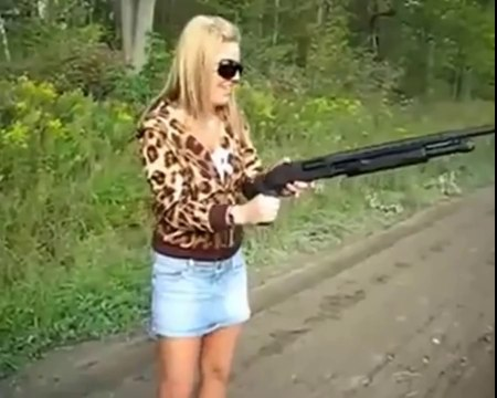 BEST OF FUNNY GIRLS SHOOTING GUNS FAILS Compilation 2014