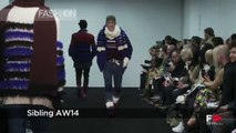 Fashion Show SIBLING Autumn Winter 2014 2015 London Menswear by Fashion Channel