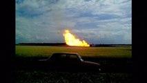 Flames shoot skyward from exploded Ukrainian gas pipeline