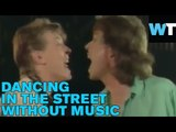 "Bowie/Jagger ""Dancing in the Street"" Video Without Music! 
