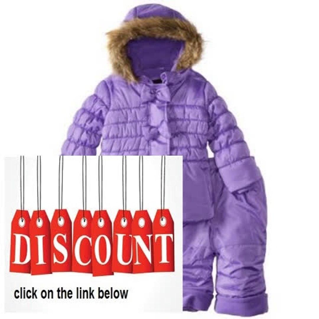 Cheap Deals Rothschild Baby-Girls Infant Peplum Bubble Snowsuit with Bow Trim Review