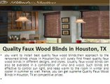 Find Quality Blinds And Shutters in Houston With Guarantee