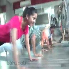 Baahubali Workout by Rana Prabhas Anushka Video