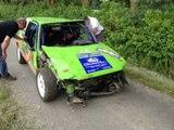 Sortie de route pendant le Rallye de Haute Senne! CRASH de malade...