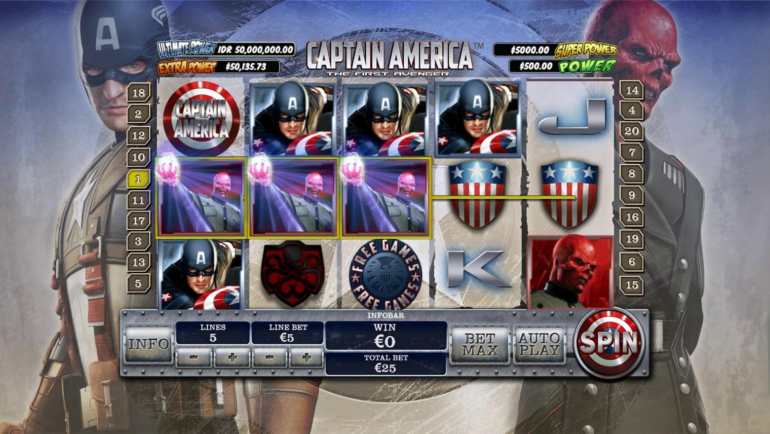 CAPTAIN AMERICA New Slot game