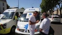 Grève : les ambulanciers bloquent les rues d'Avignon