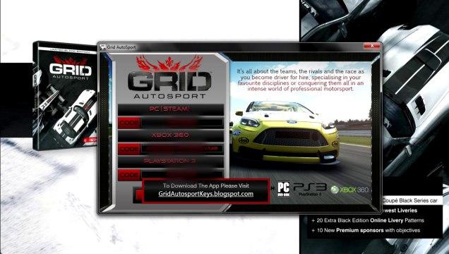 Download Grid Autosport free Steam Keys Xbox360 Ps3!