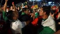 COUPE DU MONDE DE FOOTBALL; Fete apres le 0/0 cote Mexicain contre le Bresil