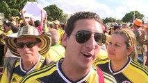 Colombia celebra su pase a octavos